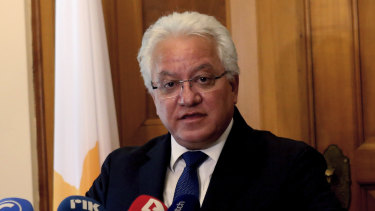 Justice Minister Ioanas Nicolaou announced his resignation.