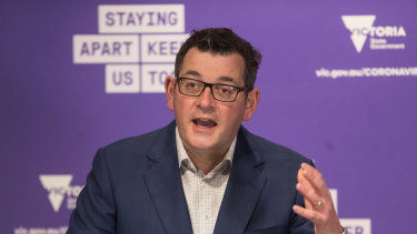 The Age, News. Premier Daniel Andrews Press Conference.Pic Simon Schluter 3 August 2020