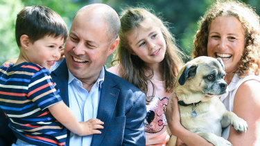Treasurer Josh Frydenberg with his family.