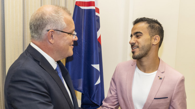 Hakeem al-Araibi inspires Canberra soccer clubs to back refugees
