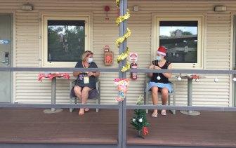 Returned Australian travellers at the Howard Springs quarantine facility over Christmas.