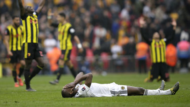 Despair for Wolverhampton's Willy Boly after the final whistle.