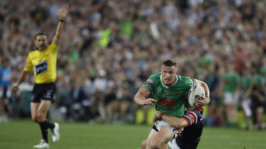 Jack Wighton was at the centre of the controversial 'six-again' decision earlier this month in the NRL grand final.