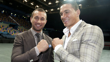 Mateship: Sonny Bill Williams and Quade Cooper are likely to become the targets of NRL teams in 2020.
