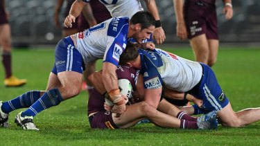 Crackdown: The NRL has tackles such as this one in their sights.
