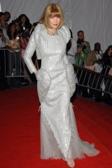 """Anna Wintour at the 2008 """"superheroes"""" Met Gala."""