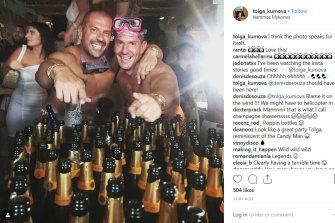 """I think the photo speaks for itself"" Tolga Kumova on holiday in Mykonos in 2019."