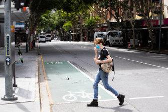 Brisbane's lockdown began on Monday.