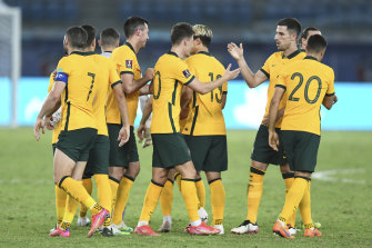The Socceroos need just a win and two draws from their final three matches to secure a spot in the next round of qualifying.