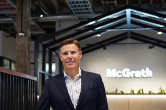 Geoff Lucas, chief executive of McGrath Ltd in the company's new Pyrmont office.
