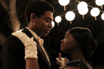 Caesar (Aaron Pierre) and Cora (Thuso Mbedu) in The Underground Railroad.