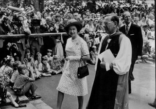 The Queen and Prince Philip  attended St Andrew's Cathedral in 1973.
