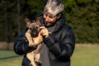 Tania Verbeeck has been working as a courier and a delivery driver, even picking up puppies.