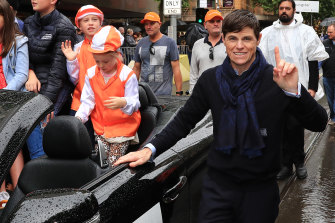 Vow And Declare rider Craig Williams at  the 2019 Melbourne Cup parade.