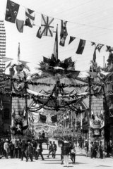 Federation celebrations in 1901 on Pitt Street, Sydney.