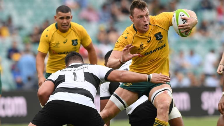 Dempsey in the Wallabies' match against the Barbarians in October last year.