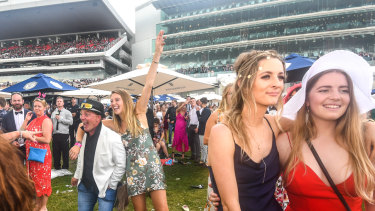 Punters weren't ready to go home after the last race.