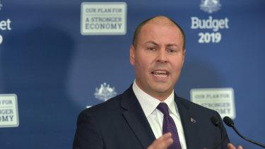 Josh Frydenberg's first budget revealed a big write down in future GST revenue.