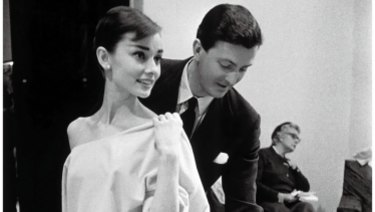Audrey Hepburn with Hubert de Givenchy.
