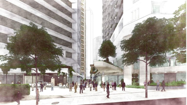 The QIC Triplets and 62 Mary Street development is proposed to be completed over four stages.
