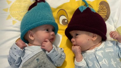 Twins born 10 weeks early 3000km from home in the middle of a pandemic