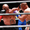 'We're humanitarians now': Mike Tyson, Roy Jones jnr draw on return to ring