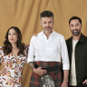 The new faces of Masterchef: Melissa Leong, Jock Zonfrillo and Andy Allen.