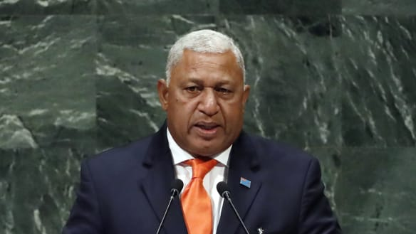 Fiji's PM Bainimarama wins narrow majority