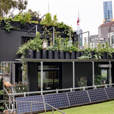 """The Future Food System sustainability-showcase home in Federation Square: """"People want to make a change, they just don't know how,"""" she says. """"When people come here, they get it."""""""