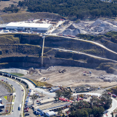 Eastern Creek landfill is one of two sites that takes Sydney's organic waste.