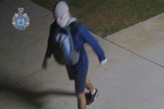 WA Police released an image of a man they wished to speak to over the posters with racist imagery in May.