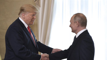 US President Donald Trump and Russian President Vladimir Putin