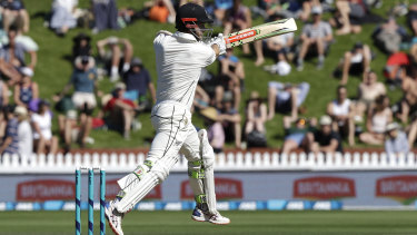 New Zealand captain Kane Williamson in action against England.