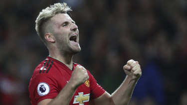 Back in the fold: Luke Shaw has been rewarded for his form with Manchester United.