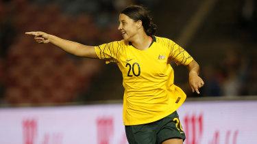 Sights on Italy: Matildas star Sam Kerr.