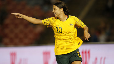 Rare miss: Matildas star Sam Kerr finished fifth in voting for the inaugural women's Ballon d'Or.