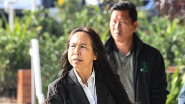 Supaporn Chomphoo, mother of Danukul Mokmool, arrives at the Coroners Court in Sydney on Monday.