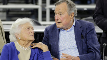 Former US president George HW Bush was hospitalised the day after the funeral of his wife Barbara Bush.