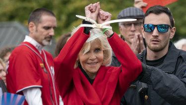 Jane Fonda, arrested again.