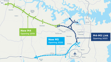 """Details about the design and construction of the Rozelle interchange were deemed """"indicative only"""" in the environmental report for the final stage."""