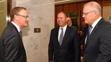 Prime Minister Scott Morrison and Treasurer Josh Frydenberg meet with RBA governor Philip Lowe four days after the election.
