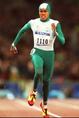 Cathy Freeman at the Sydney 2000 Olympic Games.