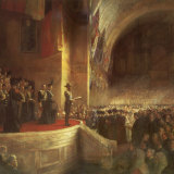 The Tom Roberts painting that captures the Duke of Cornwall and York (later King George V) opening Federal Parliament.