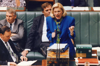 """Federal minister Ros Kelly resigned in 1994 after the $30 million """"sports rorts"""" affair."""