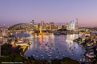 The $4 billion One Sydney Harbour project comprises three towers.