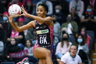 Shamera Sterling played a starring role for the Thunderbirds in their win over the Magpies.