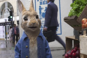 The eponymous hero makes a break for the city in Peter Rabbit 2: The Runaway.