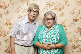 Daniel Tobias and Clare Bartholomew, best known as Die Roten Punkte, in their new show, The Anniversary.