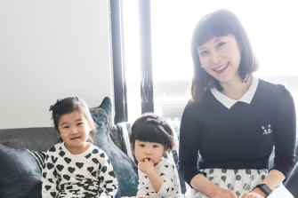 Anna Tan with her daughters Lily, three, and 11-month-old Leia who were both conceived by IVF.