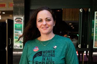 Democrat Shelah Wilkins at the Cheers pub in Sydney.